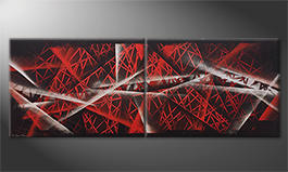 Le tableau moderne 'Red Night' 160x60cm