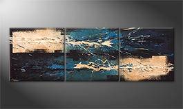 Le tableau moderne 'Water Lights' 210x70cm