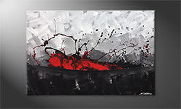 Le tableau mural 'Aboiled Red' 120x80cm