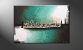 Le tableau mural 'Aboiled Silver' 120x80cm