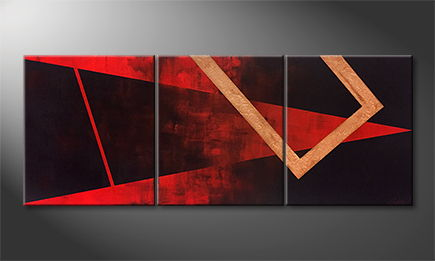 Le tableau mural 'Abstract Heat' 150x60x4cm