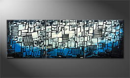 Le tableau mural 'Abstract Ice' 240x80cm