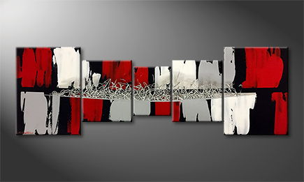 Le tableau mural 'Back To Red' 210x60cm