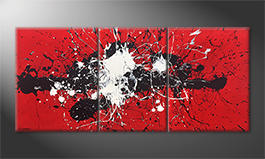 Le tableau mural 'Battle Of Opposites' 200x90cm