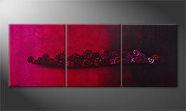 Le tableau mural 'Bed Of Roses' 210x80cm
