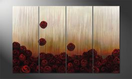 Le tableau mural 'Bed of Roses' 160x100cm