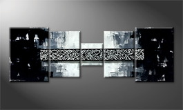 Le tableau mural 'Black Bridge' 210x70cm
