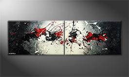 Le tableau mural 'Blowing Contrast' 200x60cm
