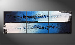 Le tableau mural 'Blue Shift' 210x70cm
