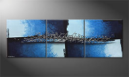 Le tableau mural 'Broken Water' 210x70cm