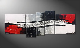 Le tableau mural 'Clash Of Contrast' 205x80cm
