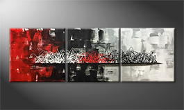 Le tableau mural 'Clash Of Moments' 210x70cm