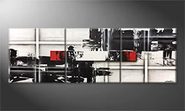 Le tableau mural 'Clash Of Opposites' 240x80cm