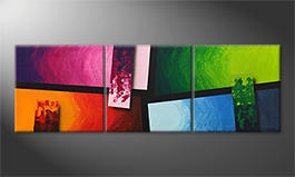 Le tableau mural 'Color Blocs' 150x50cm