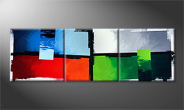 Le tableau mural 'Color Crash' 240x80cm