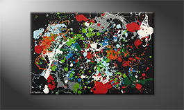 Le tableau mural 'Color Explosion' 120x80cm