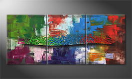 Le tableau mural 'Color Storm' 150x65cm
