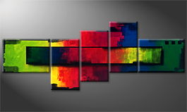 Le tableau mural 'Colorful Areas' 310x120cm