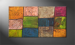 Le tableau mural 'Colorful Nature' 130x70x4cm