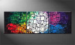 Le tableau mural 'Colorful Summer' 210x70cm