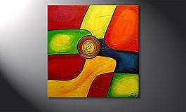 17500 le tableau mural colors 80x80cm - Tableaux Abstraits Colors