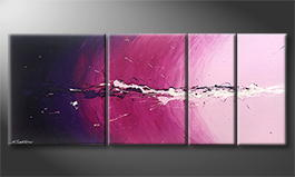 Le tableau mural 'Cosmic Eruption' 190x70cm