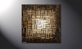 Le tableau mural 'Cubic Light' 80x80cm
