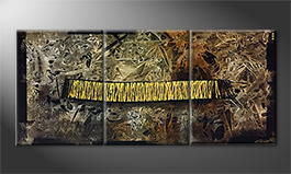 Le tableau mural 'Depth Of Chaos' 180x70cm