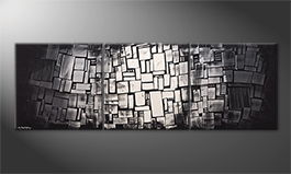 Le tableau mural 'Dissappear Of Contrast' 210x70cm