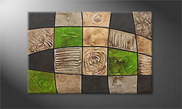 Le tableau mural 'Earth Pieces' 120x80cm