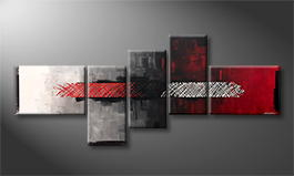 Le tableau mural 'Feeling Red' 210x90cm