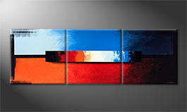 Le tableau mural 'Fire And Ice' 210x70cm