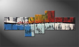 Le tableau mural 'Fire And Ice' 210x80cm