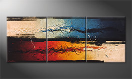 Le tableau mural 'Fire vs. Ice' 180x70cm