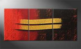 Le tableau mural 'Flowing Melody' 180x80cm