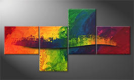 Le tableau mural 'Flowing Rainbow' 220x110cm