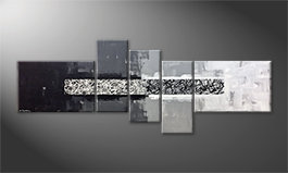 Le tableau mural 'From Black To White' 230x90cm