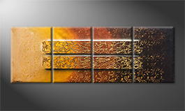 Le tableau mural 'Garden Of Gold' 200x70cm