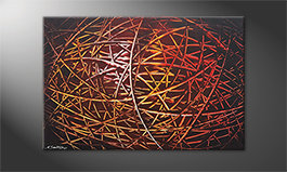 Le tableau mural 'Glowing Stripes' 120x80cm