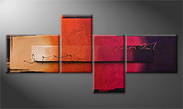 Le tableau mural 'Glowing Sun' 260x120x4cm