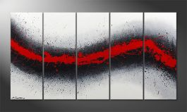 Le tableau mural 'Glowing Trace' 150x80cm