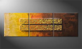Le tableau mural 'Golden Afterglow' 210x70cm
