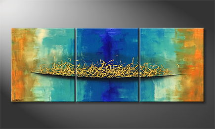 Le tableau mural 'Golden Bridge' 180x70cm