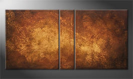 Le tableau mural 'Golden Canyon' 160x80cm