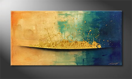 Le tableau mural 'Golden Dawn' 120x60cm