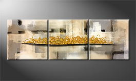 Le tableau mural 'Golden Dream' 210x70cm