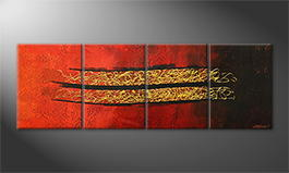 Le tableau mural 'Golden Drift' 200x70cm