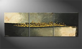Le tableau mural 'Golden Flow' 210x70cm