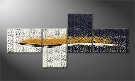 Le tableau mural 'Golden Flow' 240x110cm