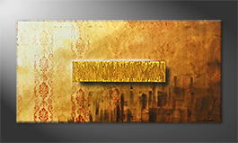 Le tableau mural 'Golden Freedom' 140x70cm